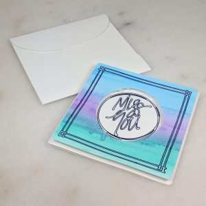 Miss You Tie Dye Card with Envelope