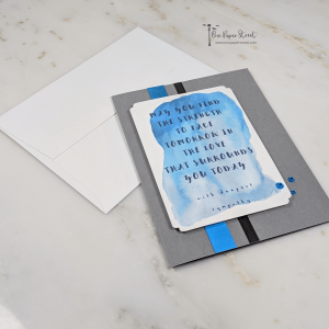 May You Find Strength | Handmade Greeting Card with Sympathy Quote Front View With Envelope